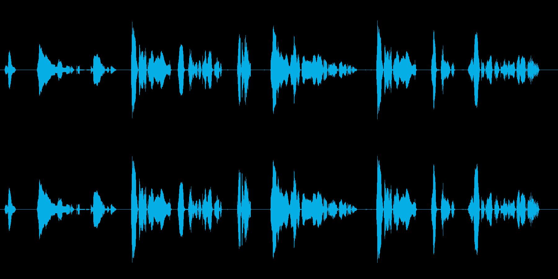 魔人系のセリフ1.2.3をまとめてあり…の再生済みの波形