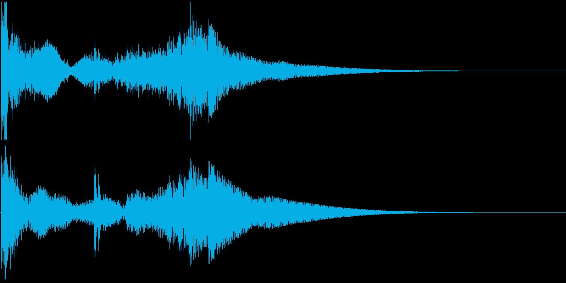 和太鼓登場ジングル2の再生済みの波形