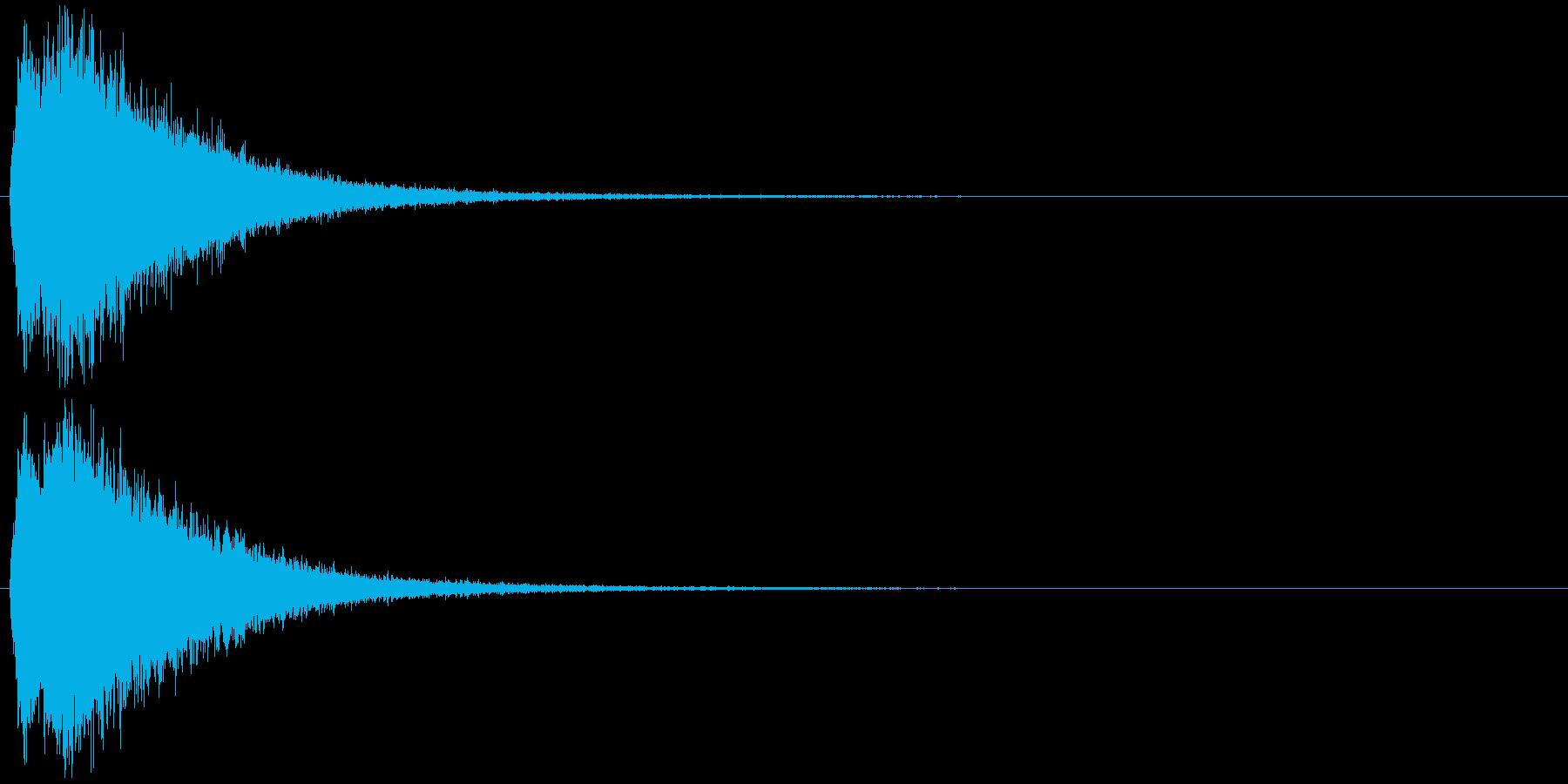 注意を引くインパクトのある音#5の再生済みの波形
