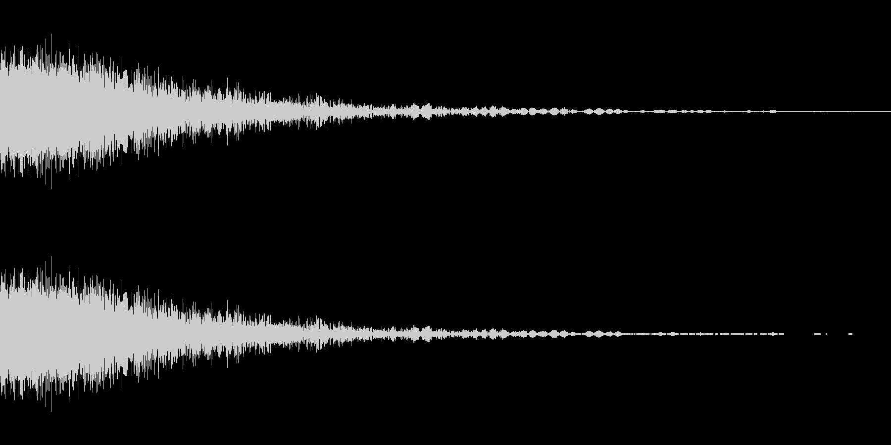 ビーム発射音,01の未再生の波形