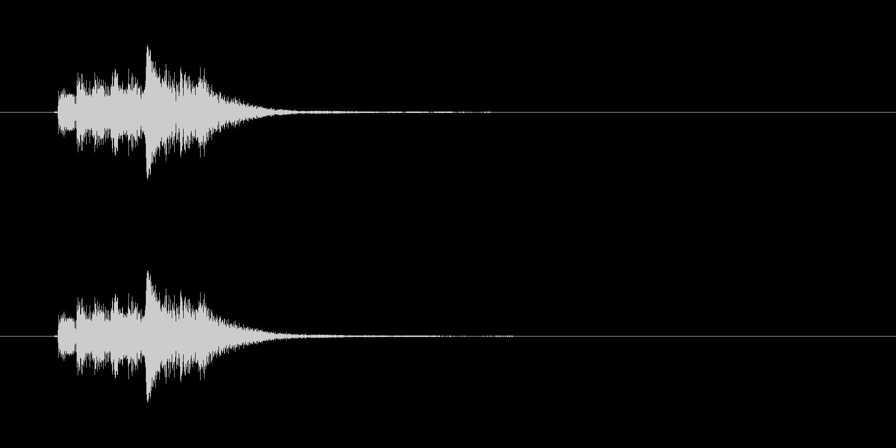 和風効果音 琴6の未再生の波形