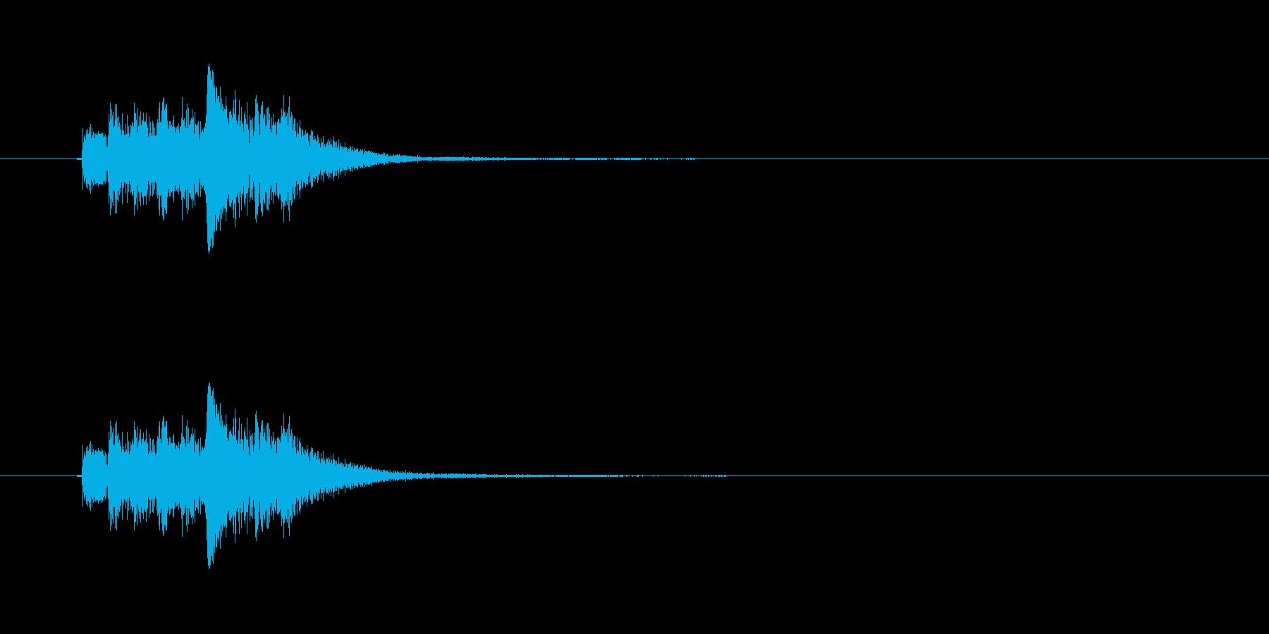 和風効果音 琴6の再生済みの波形