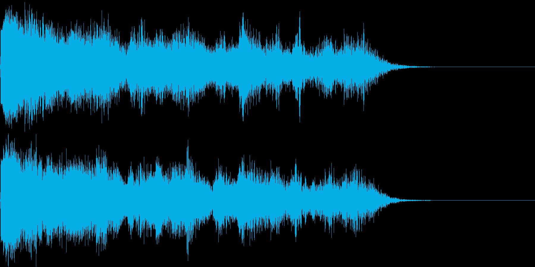 リアルな魔法の詠唱音、発動音、効果音。の再生済みの波形
