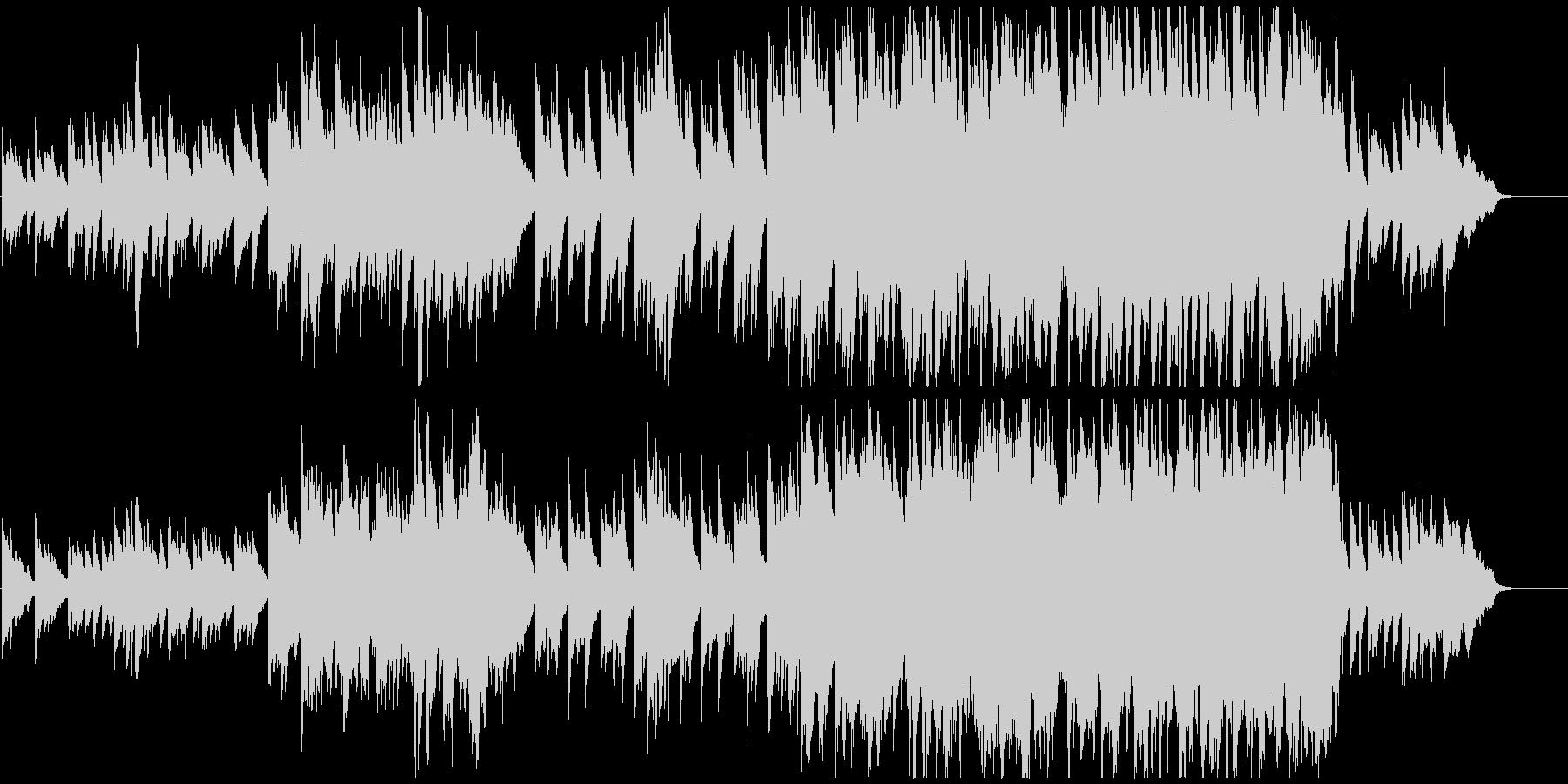 ピアノとストリングスの牧歌的で優しい曲の未再生の波形