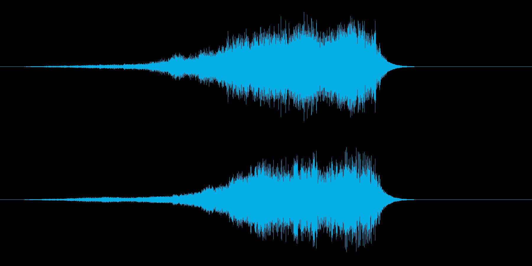 シャーーー 剣を鞘からゆっくり抜く音 …の再生済みの波形