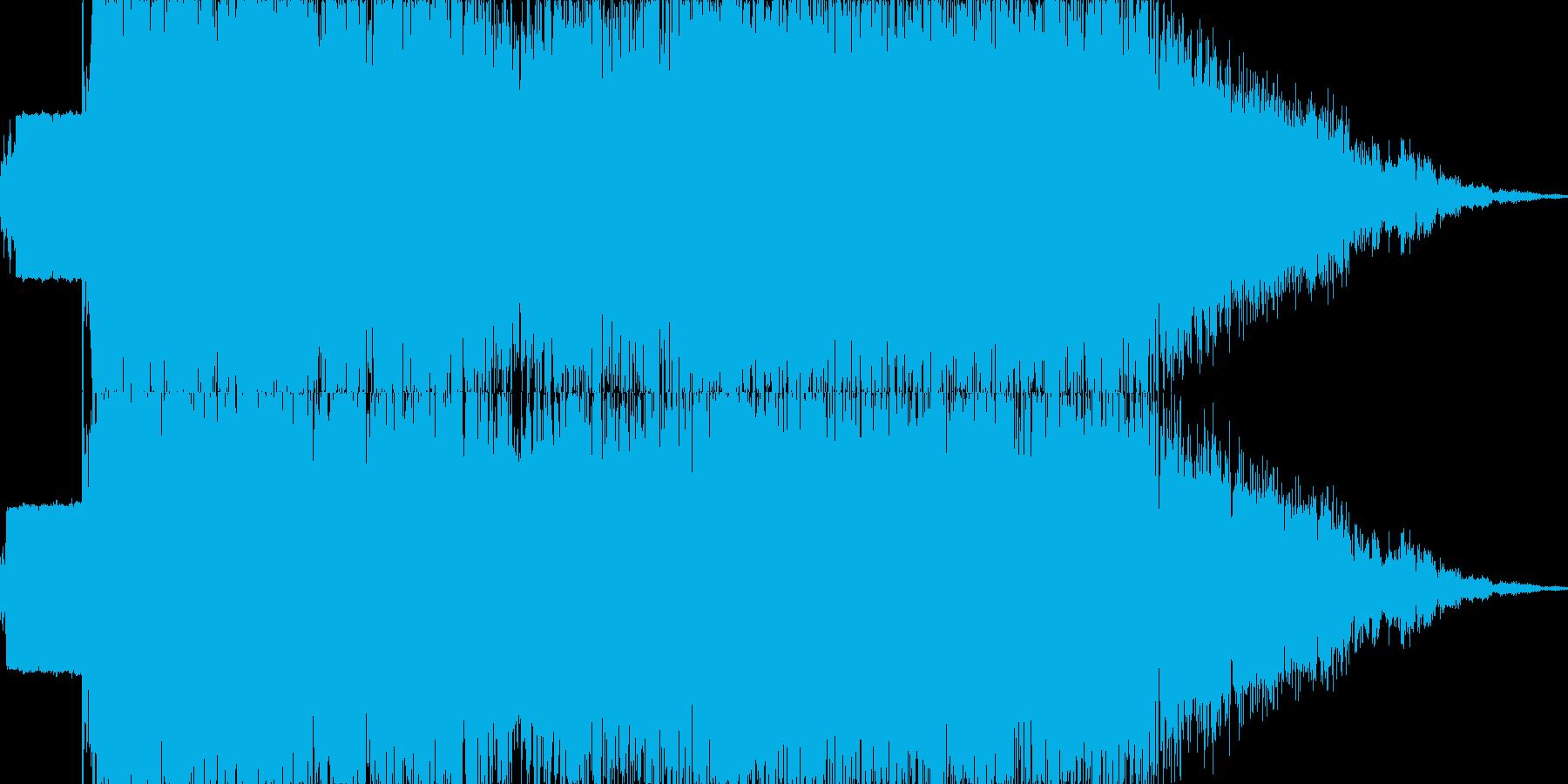 雷魔法(電撃のフィールドを展開)の再生済みの波形