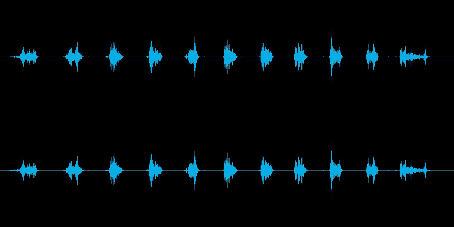 【鉛筆削り01-1(削る)】の再生済みの波形