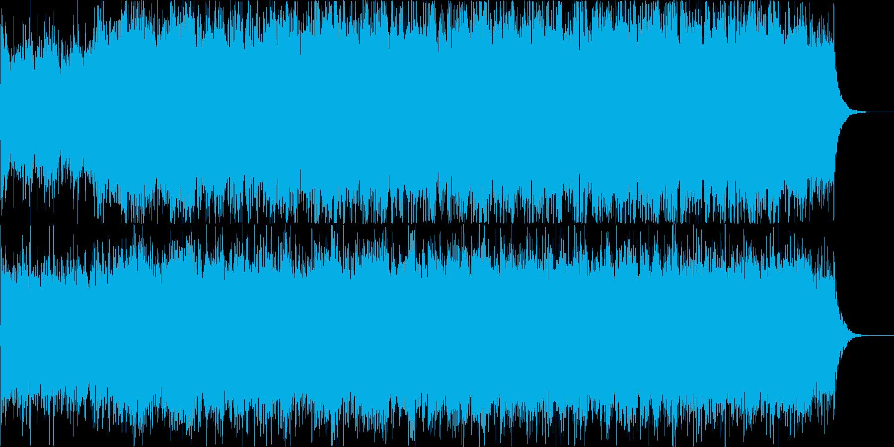 冒険やスペクタクルなシーンのオリジナル曲の再生済みの波形