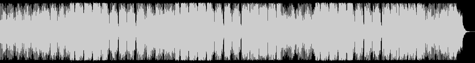 デジタルチックでダークなBGMの未再生の波形