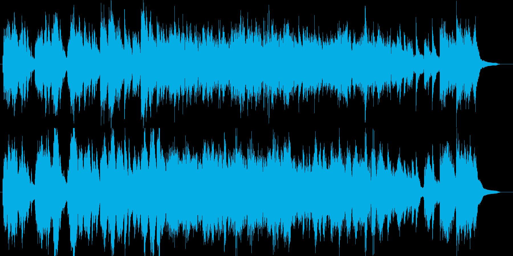 幻想的なピアノメインの楽曲の再生済みの波形