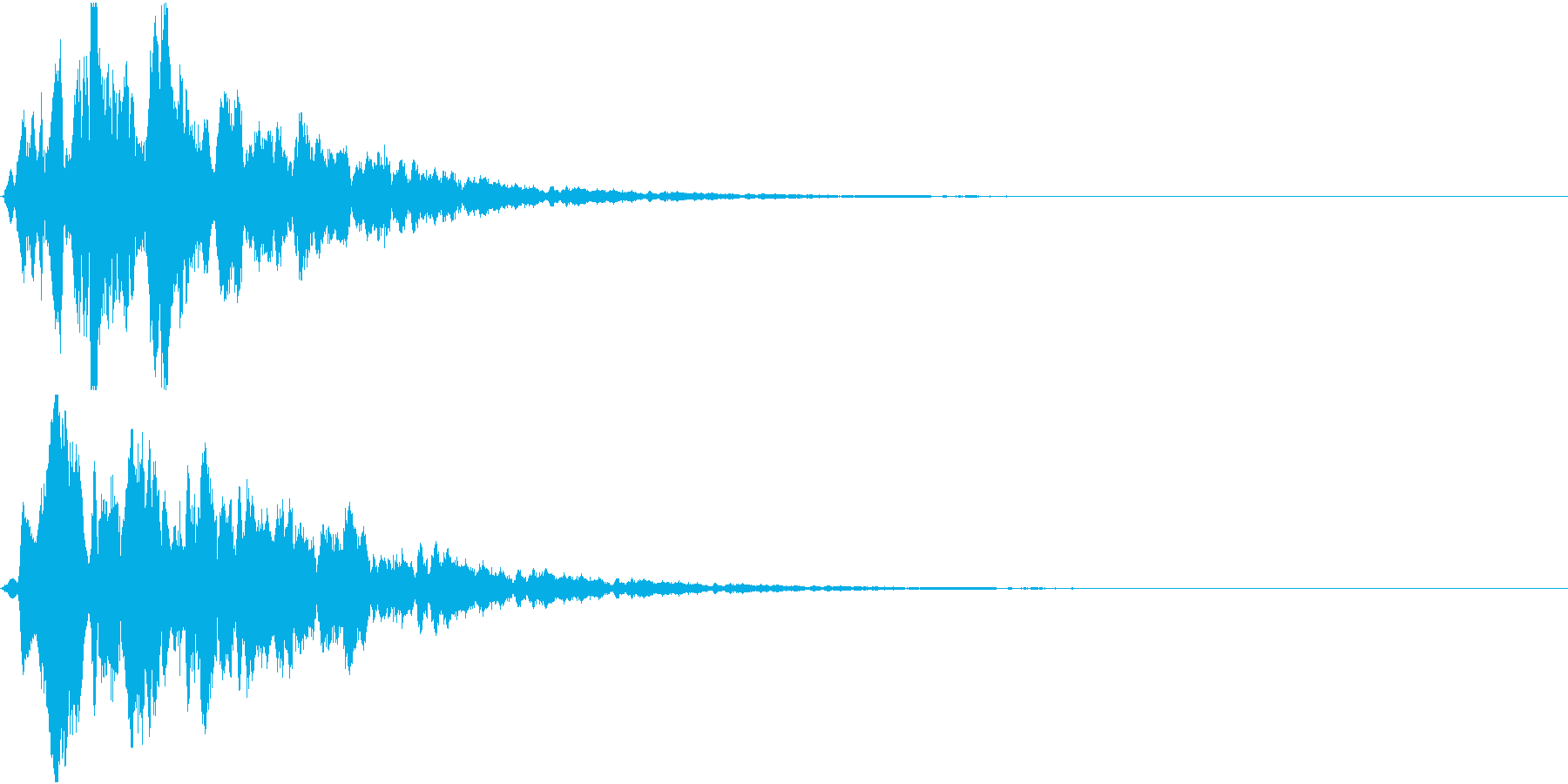 Hint 閃き 点と線が繋がる SEの再生済みの波形