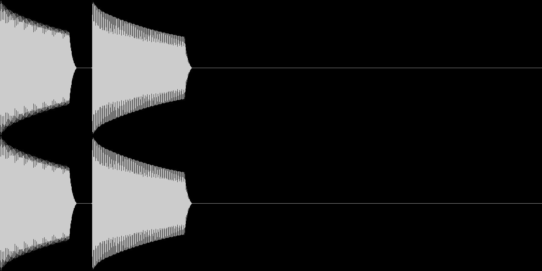 ATM 操作音 4の未再生の波形