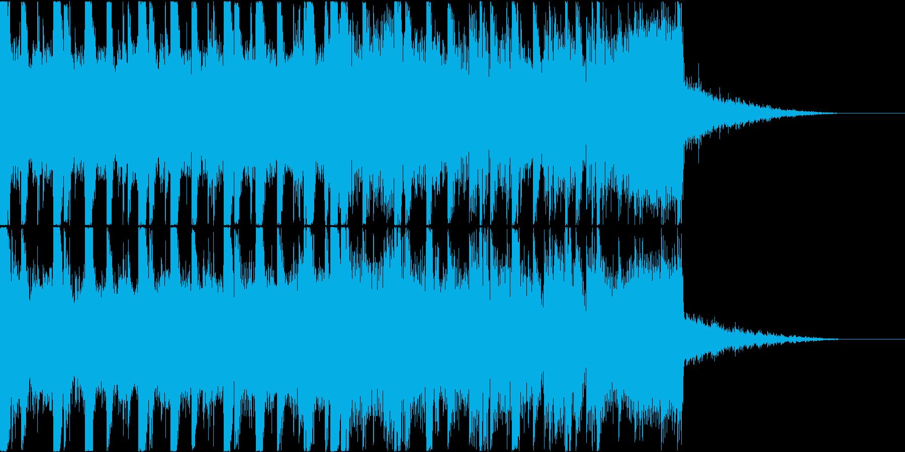 熱いバトル風ジングルの再生済みの波形