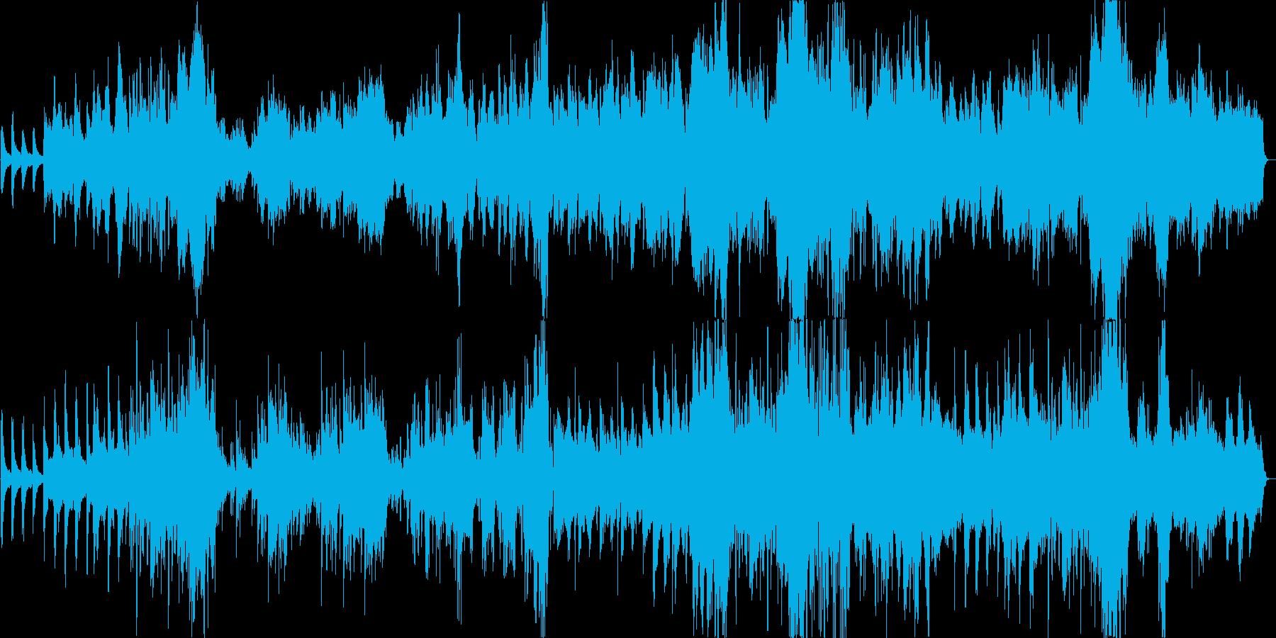ほのぼのメロディーに癒されるオーケストラの再生済みの波形