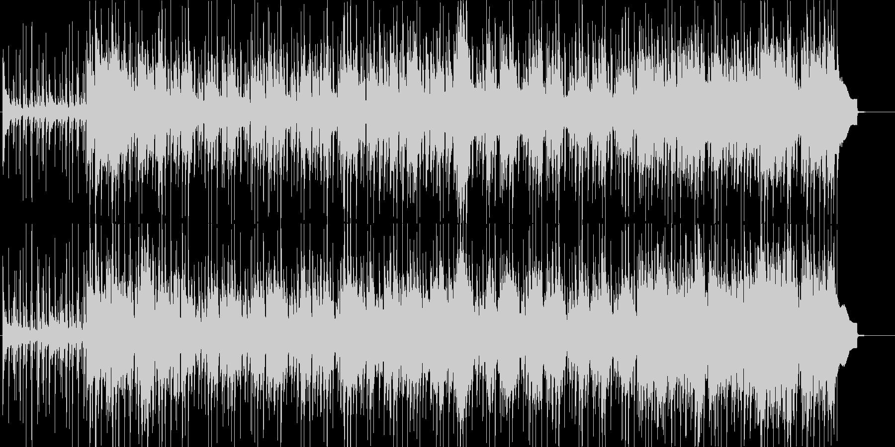 ゆったりしたテンポの明るい楽曲の未再生の波形
