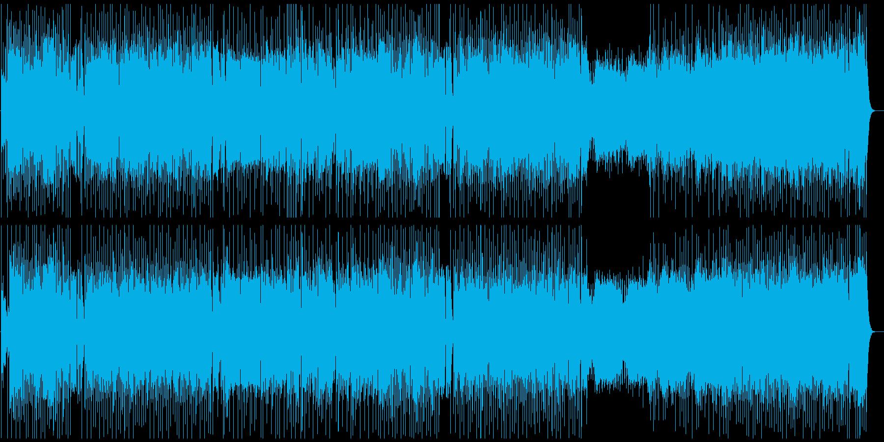 生演奏Vl、軽快なポップ、テーマ音楽の再生済みの波形