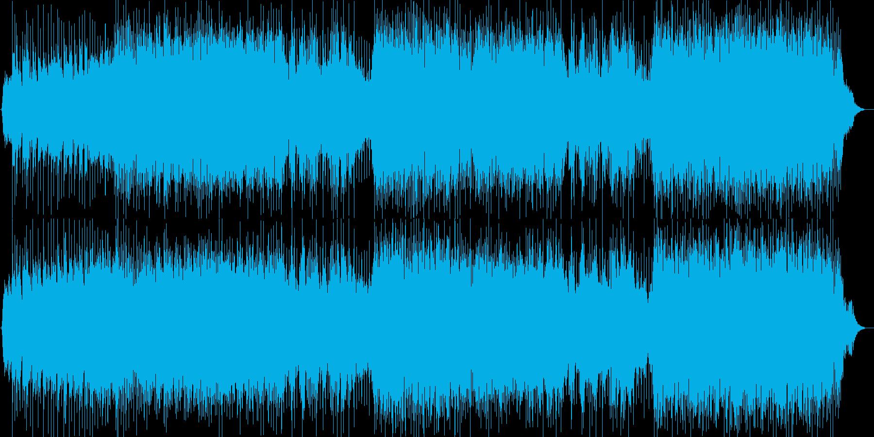 恋愛ドラマ風シンセサイザー曲の再生済みの波形