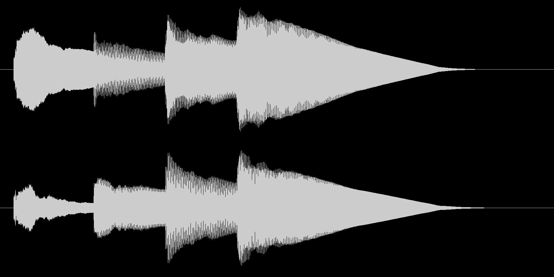 チャイム アナウンス06-3の未再生の波形