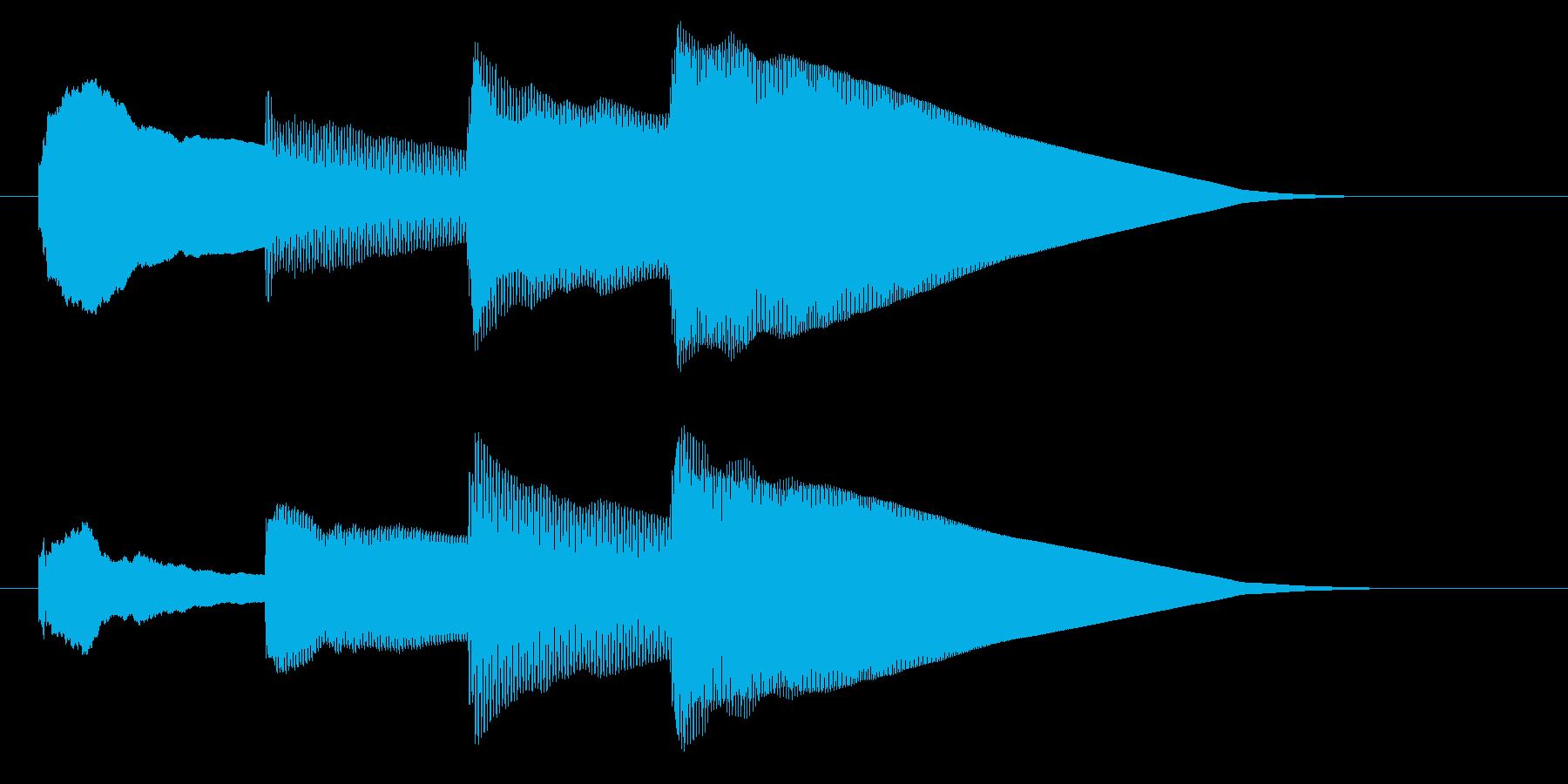 チャイム アナウンス06-3の再生済みの波形