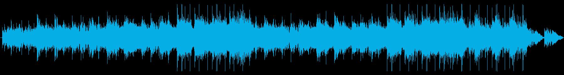 夏の浜辺のカフェで聴くBGMの再生済みの波形