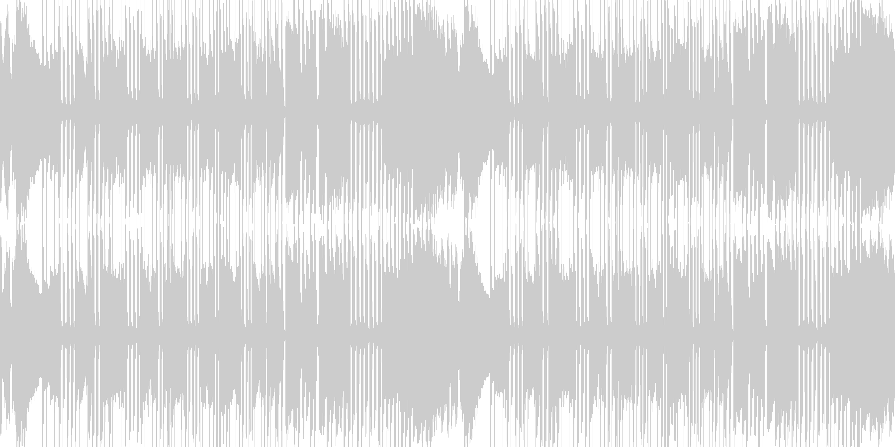 遅くなったり早くなったりする曲の未再生の波形