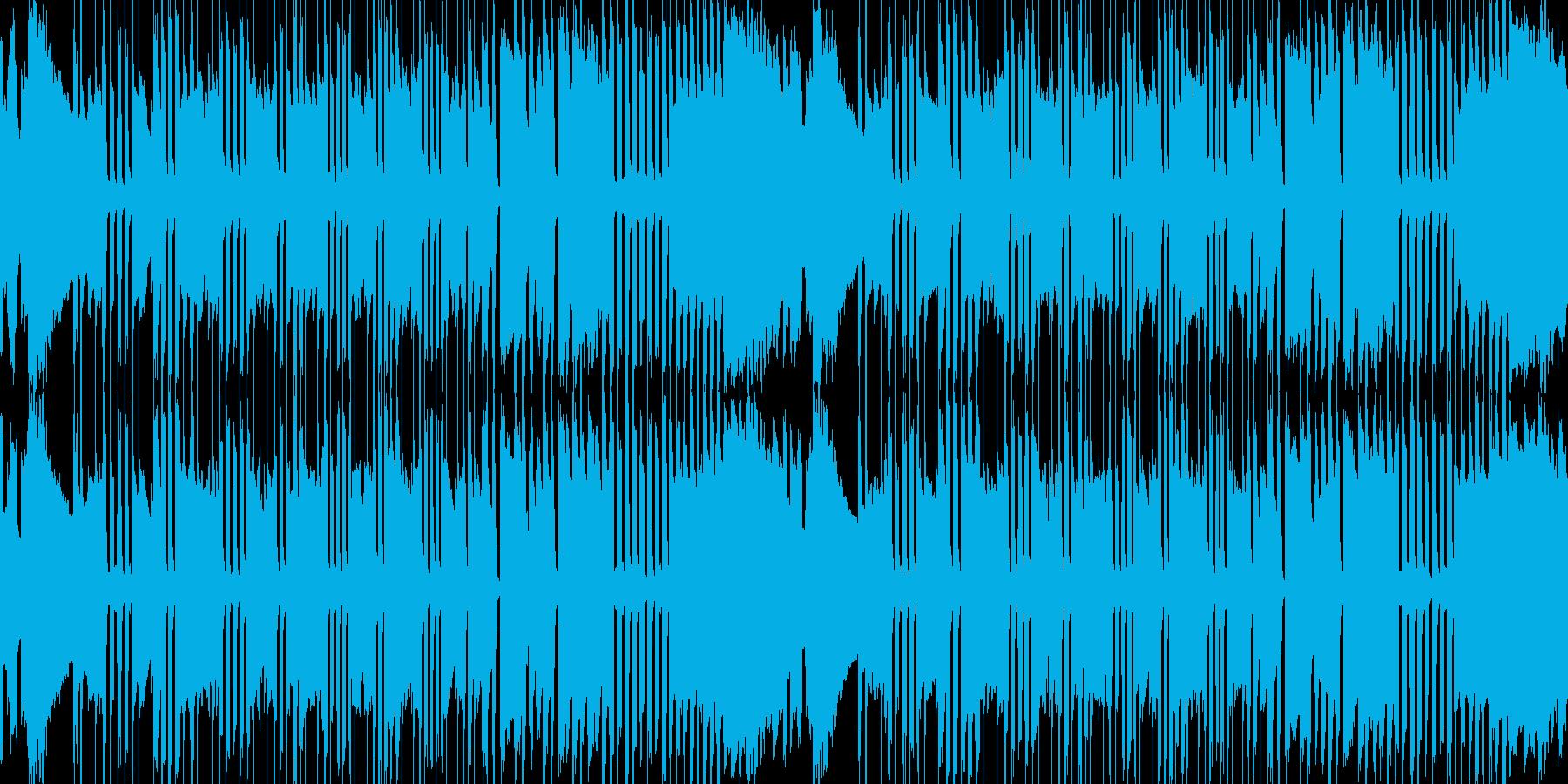 遅くなったり早くなったりする曲の再生済みの波形
