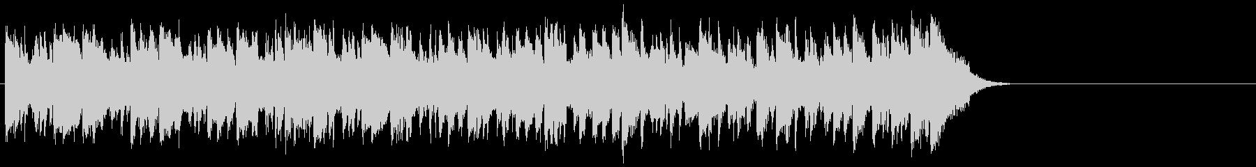リゾート風なフュージョン(サビ~エンド)の未再生の波形