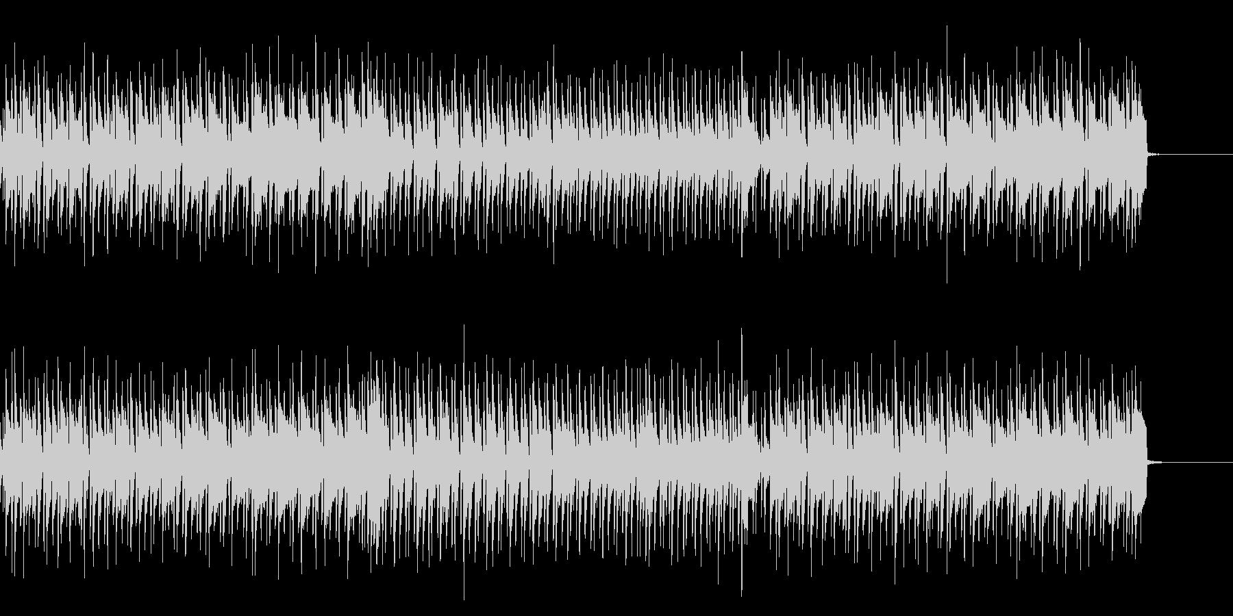 明るく楽しいBGMの未再生の波形
