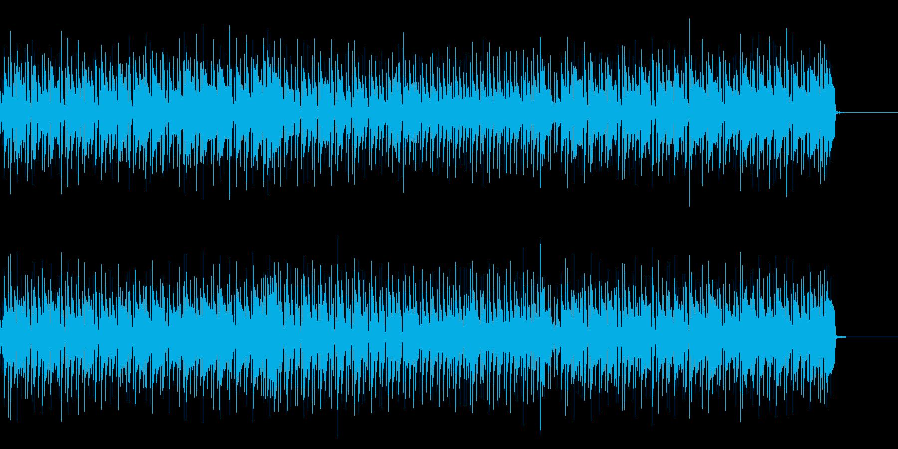 明るく楽しいBGMの再生済みの波形