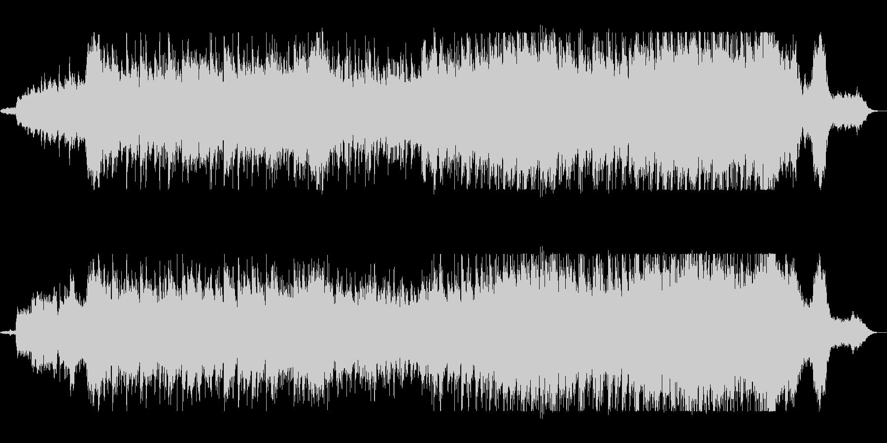 壮大で優雅なシンセサイザーサウンドの未再生の波形