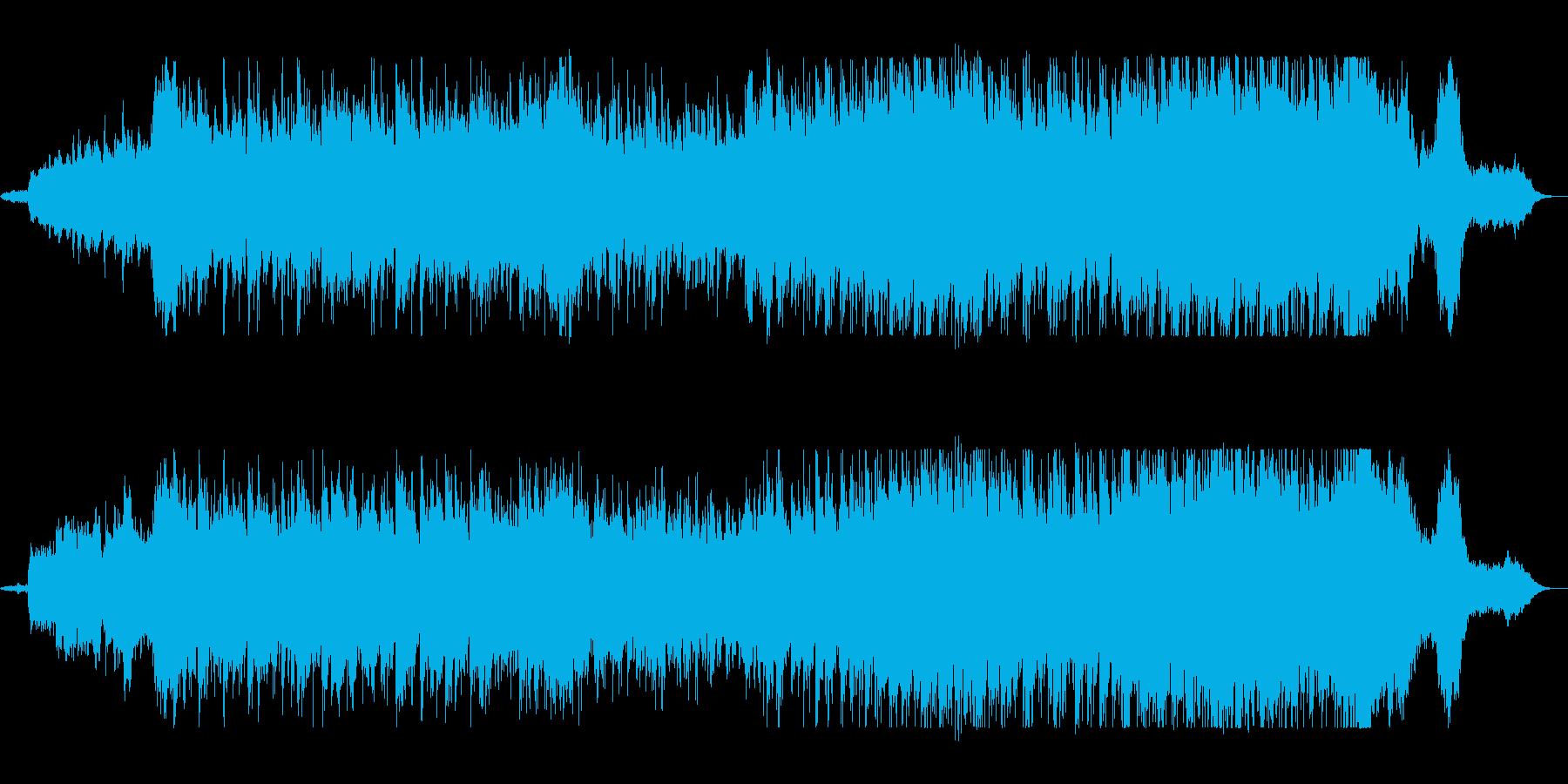 壮大で優雅なシンセサイザーサウンドの再生済みの波形