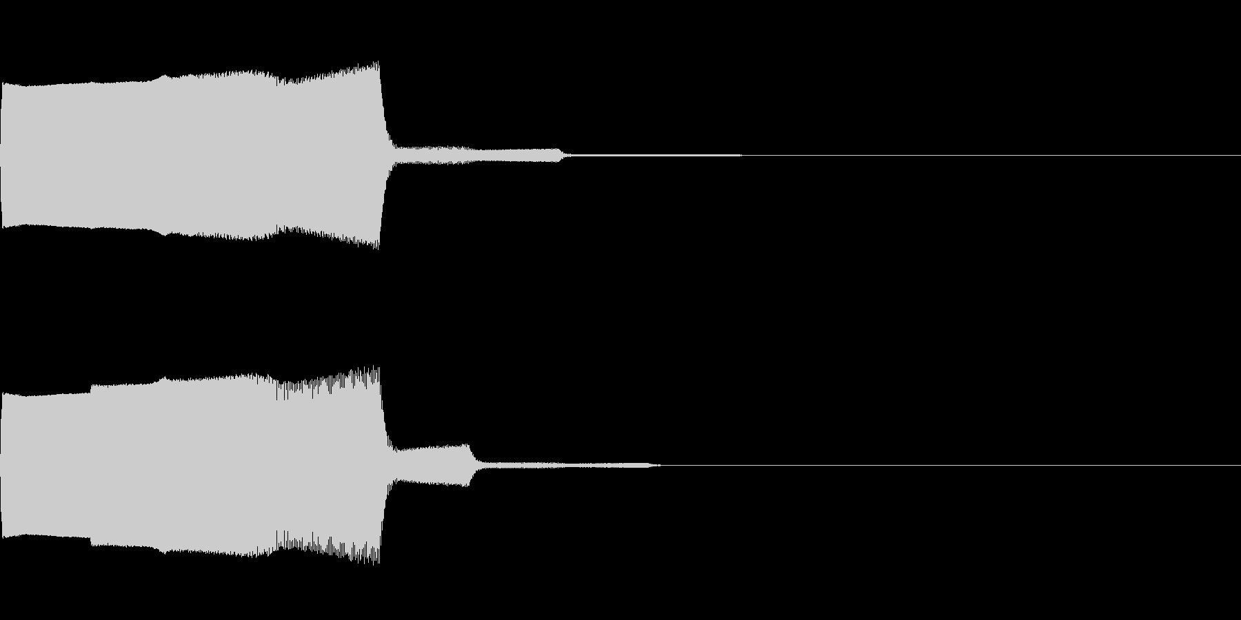 落下音01(電子音系)の未再生の波形