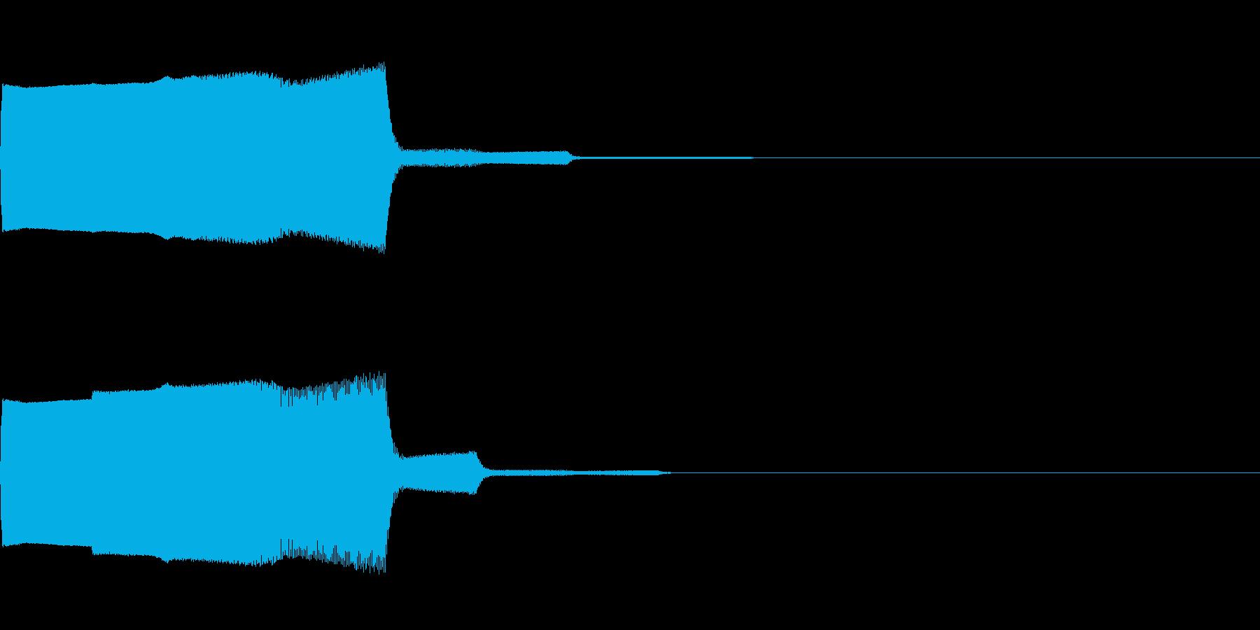 落下音01(電子音系)の再生済みの波形