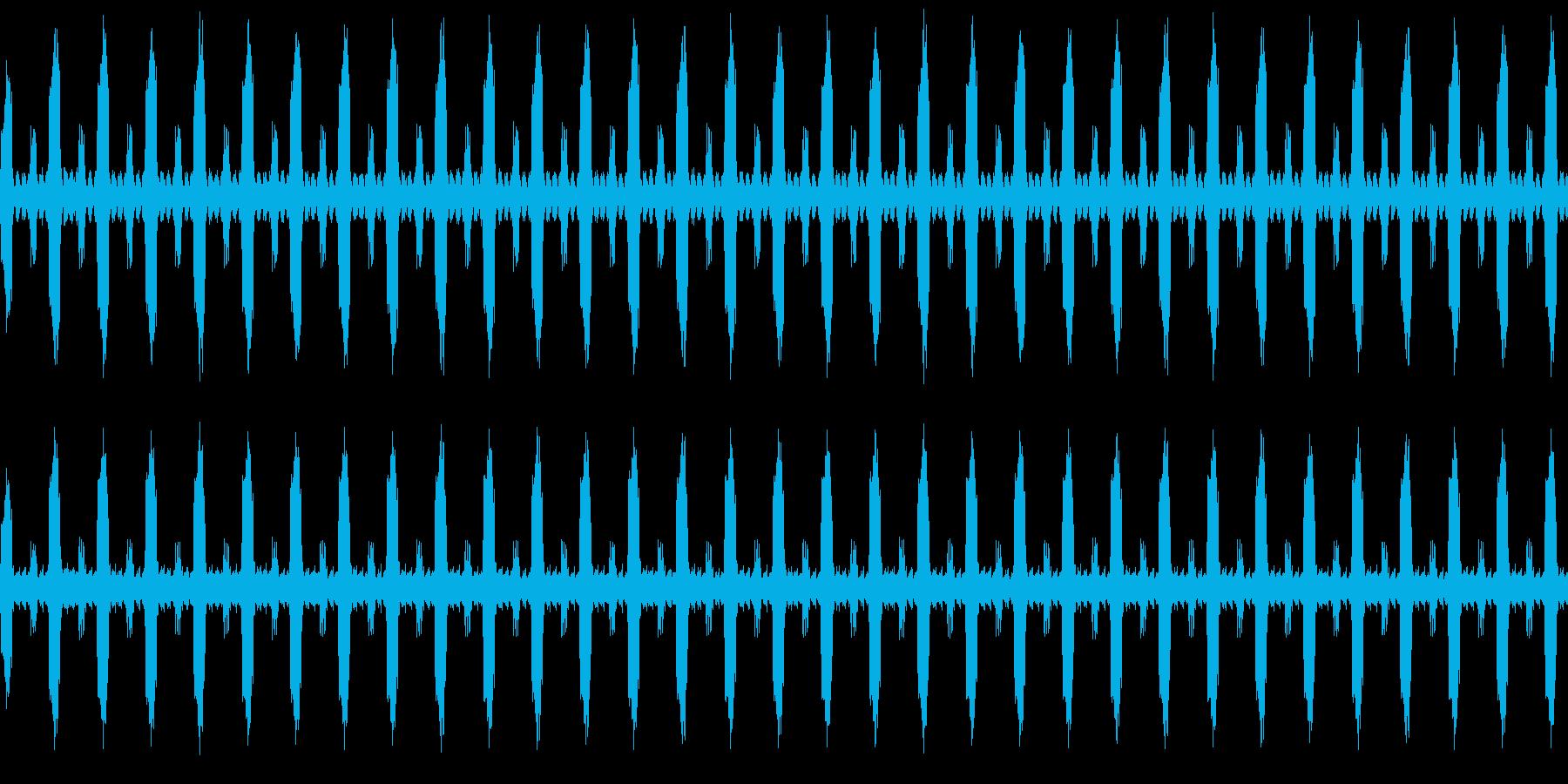 鳥と虫のループの再生済みの波形