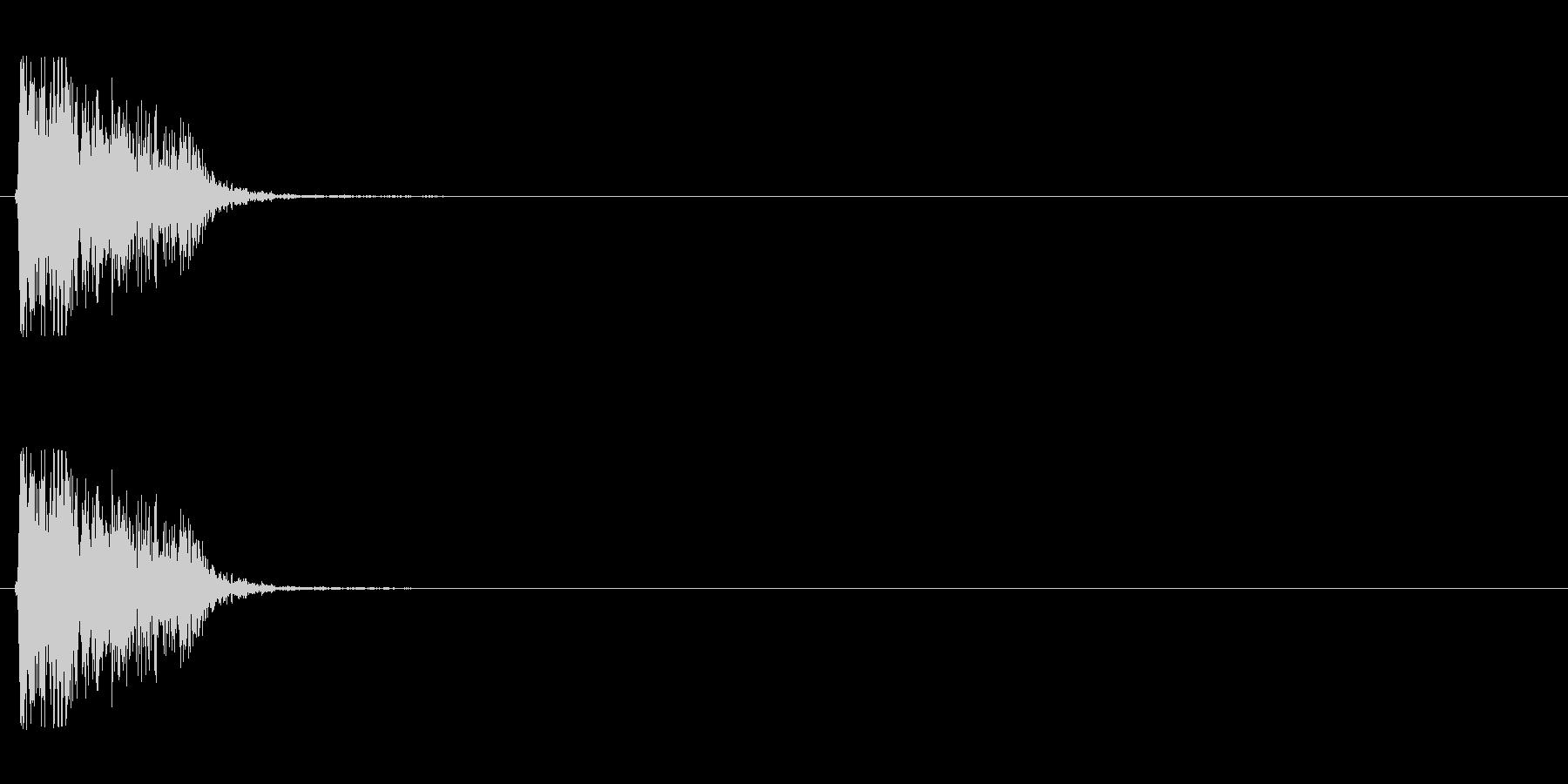 【打撃02-1】の未再生の波形
