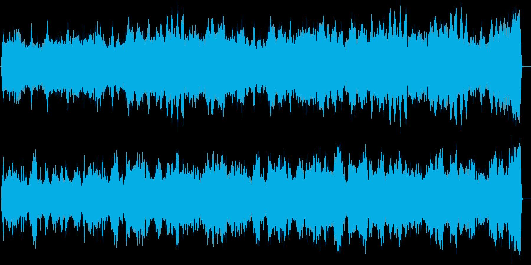 上品で希望に満ちたBGMの再生済みの波形