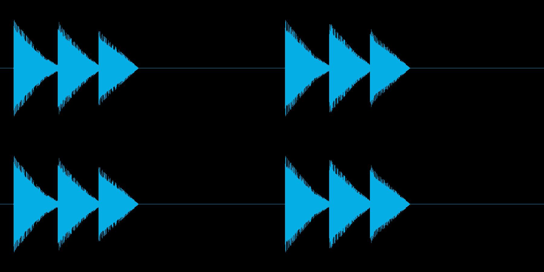レトロゲーム風・馬の蹄・ループ再生の再生済みの波形