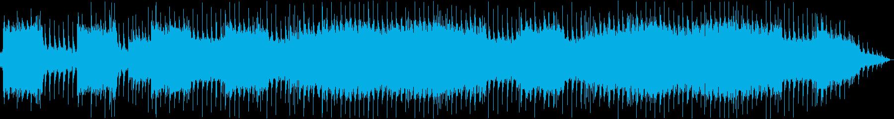 リフメインのテーマ曲のようなメタルBGMの再生済みの波形