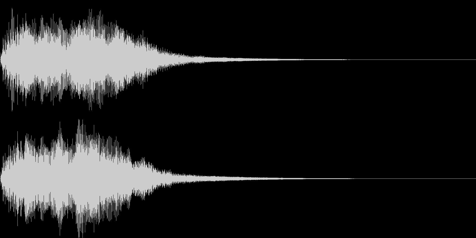 ベンドアップしたCメジャーのリッチな和音の未再生の波形