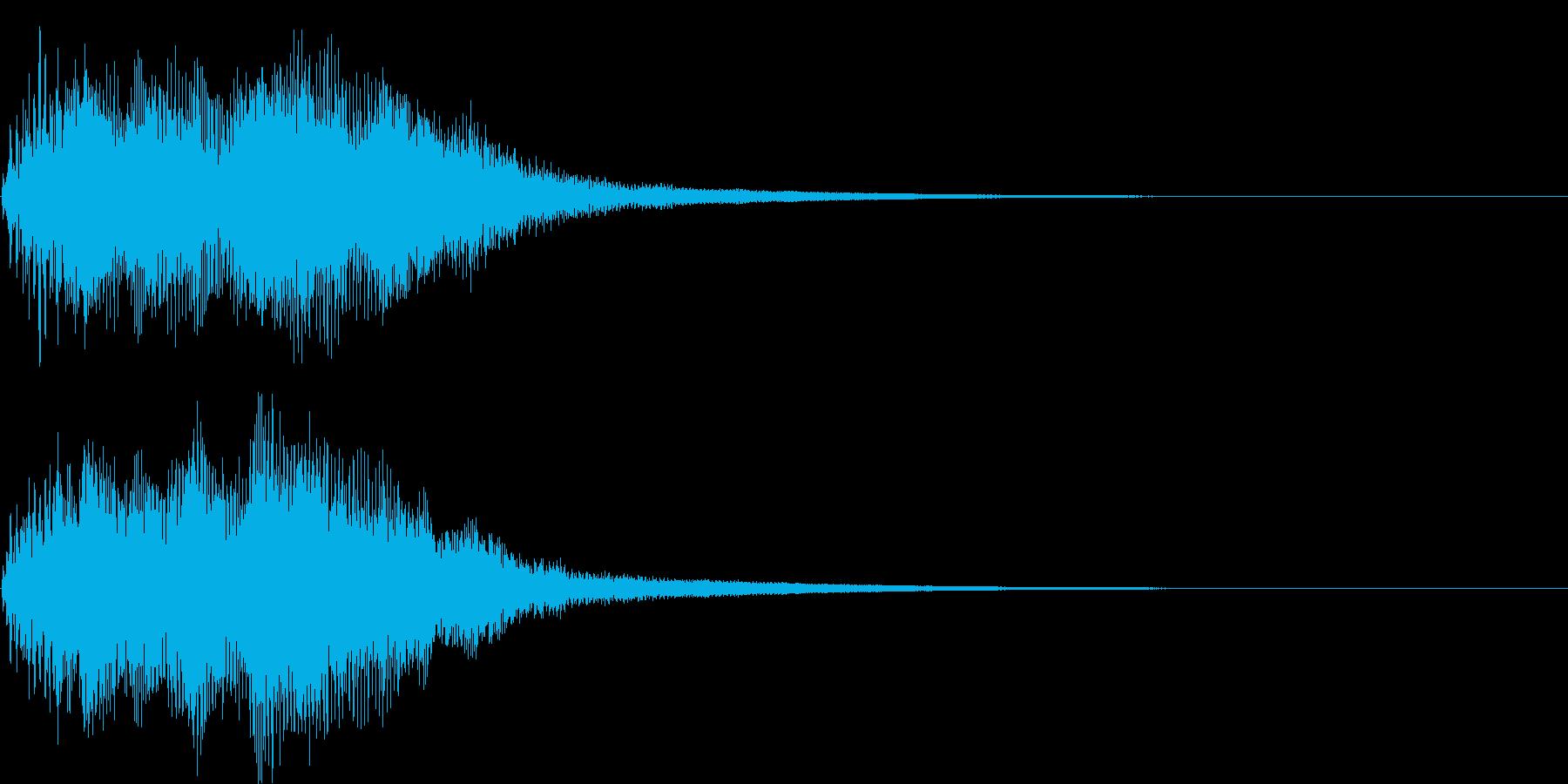 ベンドアップしたCメジャーのリッチな和音の再生済みの波形