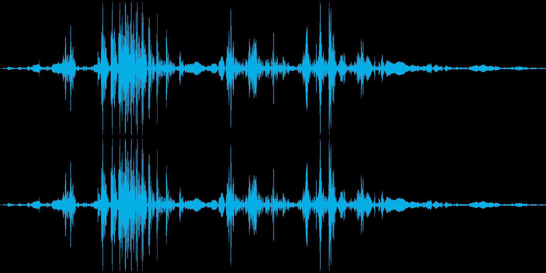 ゴクン 喉の音3の再生済みの波形