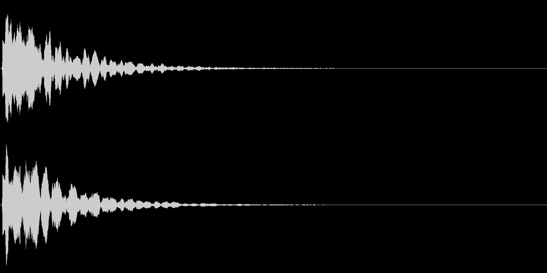 ゲームスタート、決定、ボタン音-155の未再生の波形