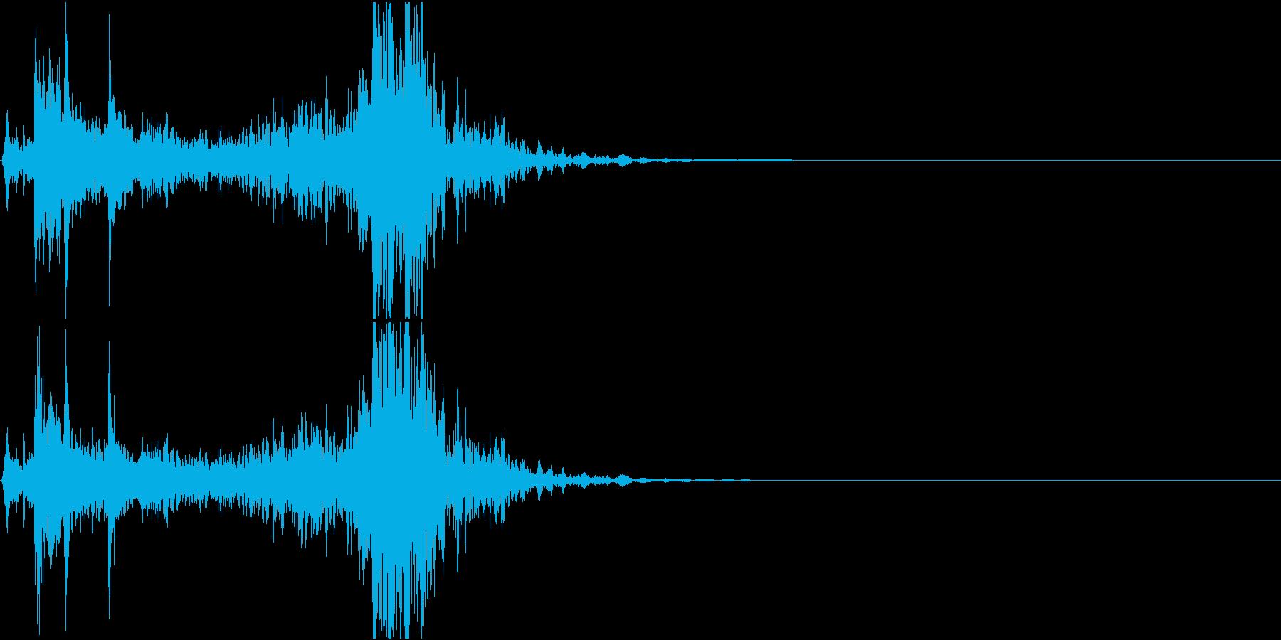 光線銃/重ため 溜め~発射音の再生済みの波形