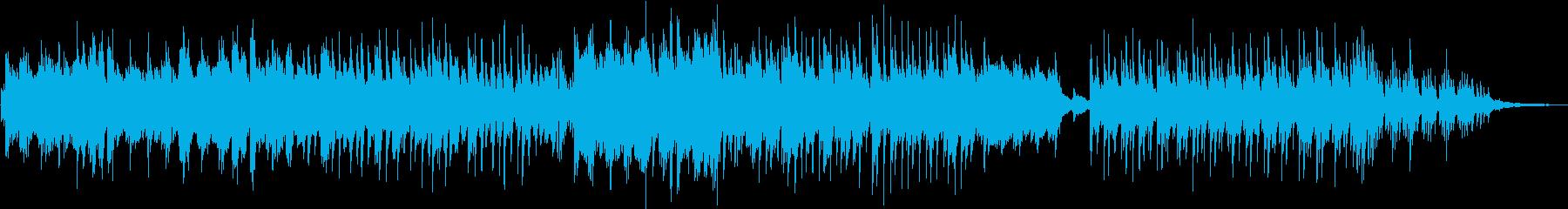 様々な映像に合う、たんたんとしたピアノ曲の再生済みの波形