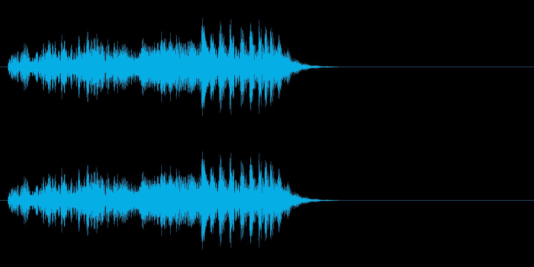 スチールドラムの長い上昇音【キラキラ・・の再生済みの波形