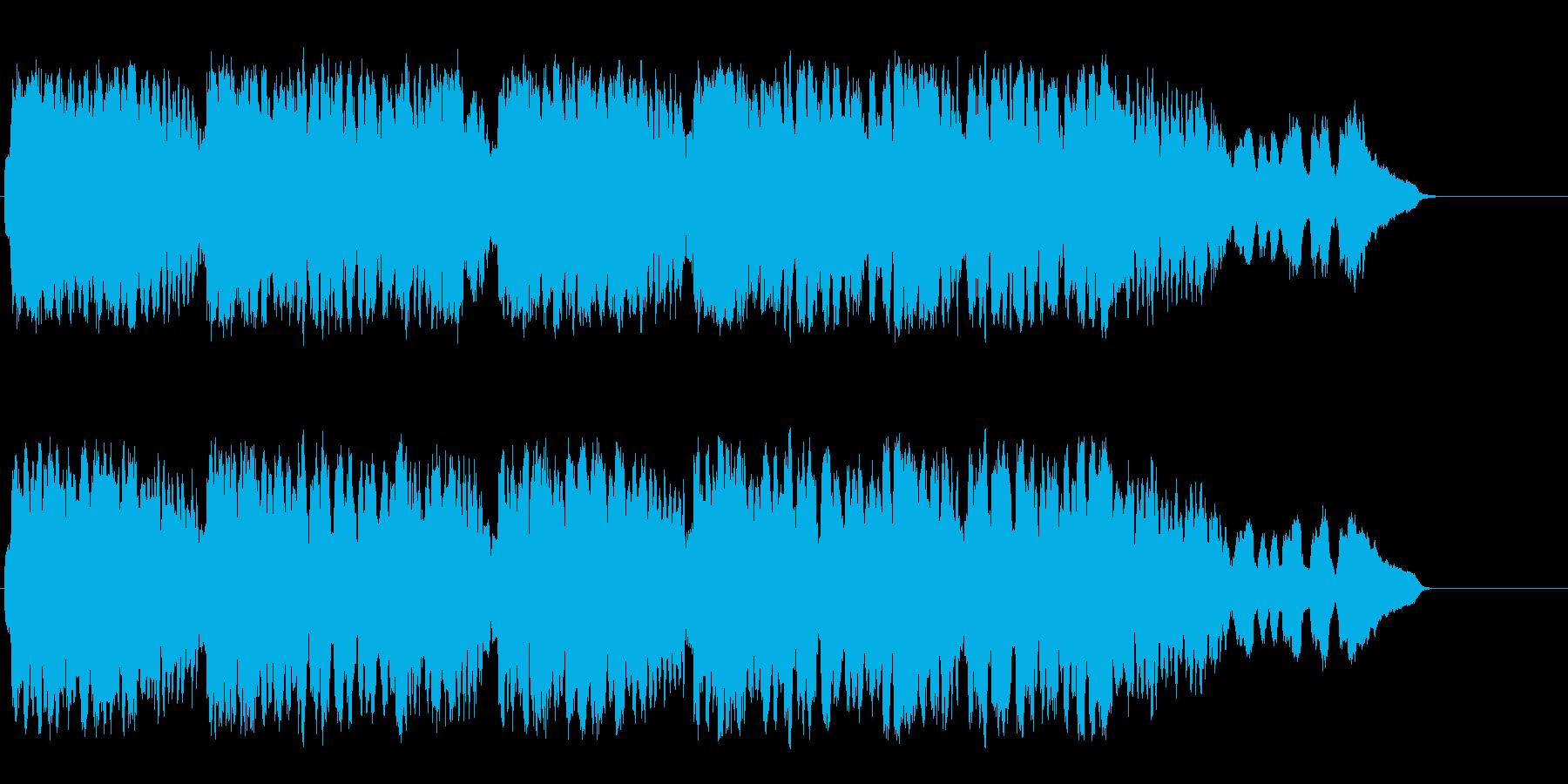 西洋の古都のバロック調の流麗なクラシックの再生済みの波形