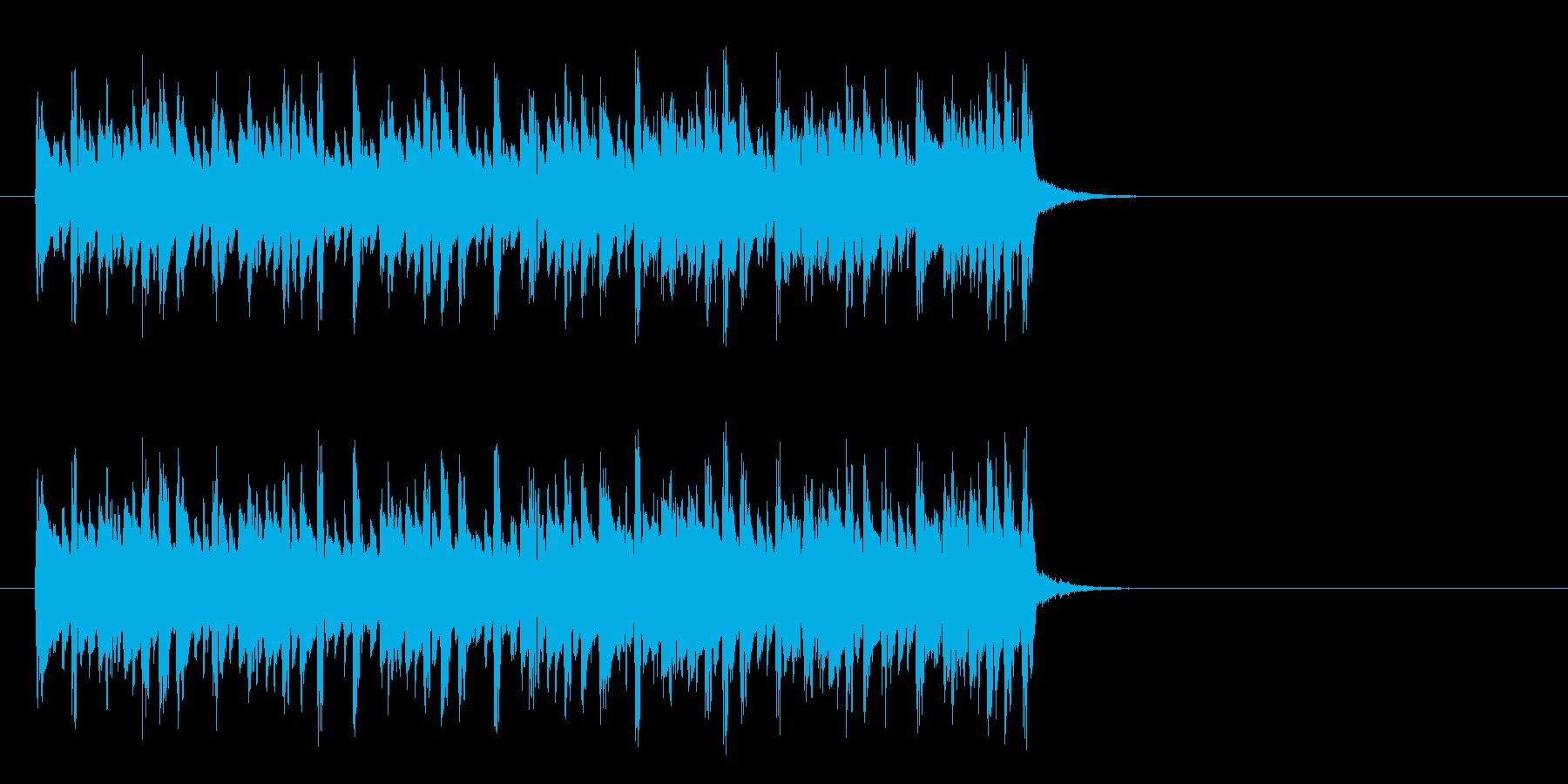 キャッチーなテクノポップ(イントロ)の再生済みの波形