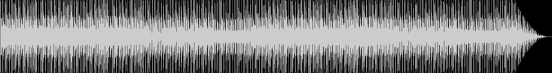 アップテンポのキラキラしたテクノ音の未再生の波形