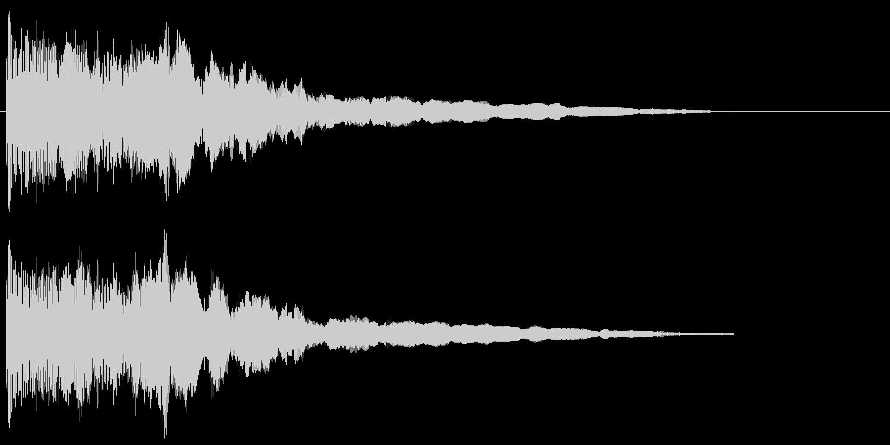 ボヨーン ビヨーン ぶよぶよした音の未再生の波形