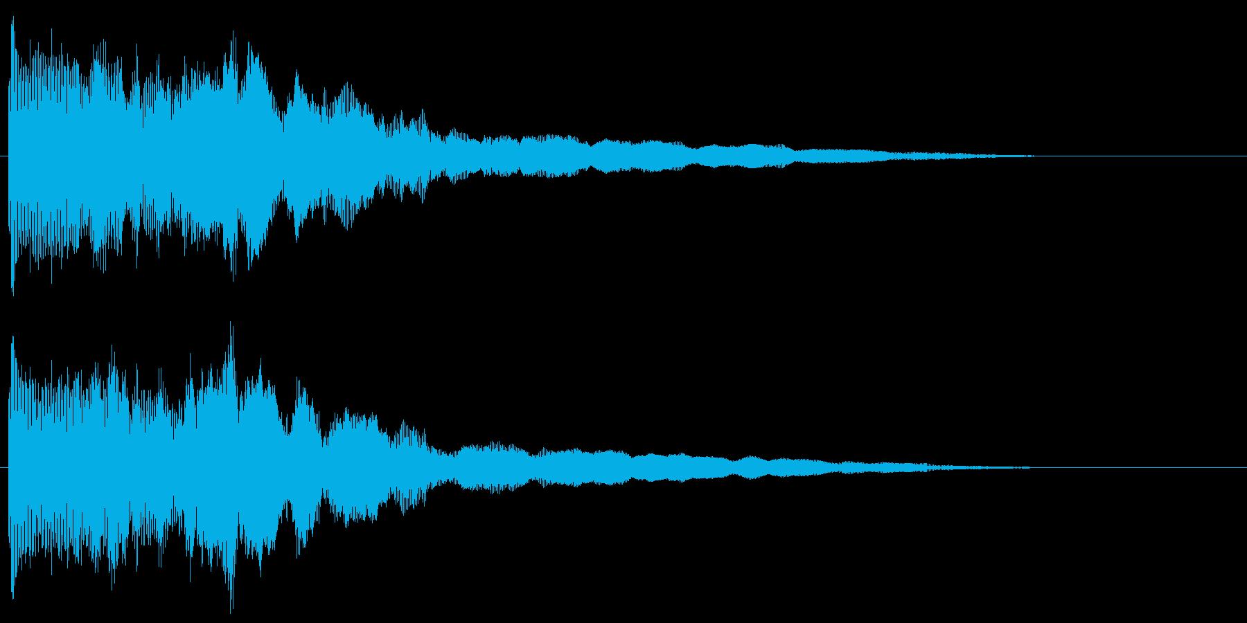 ボヨーン ビヨーン ぶよぶよした音の再生済みの波形